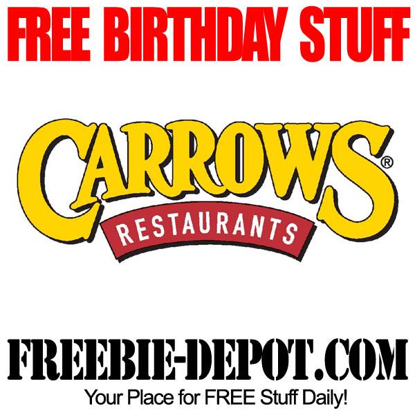 Free Birthday Cake Carrows