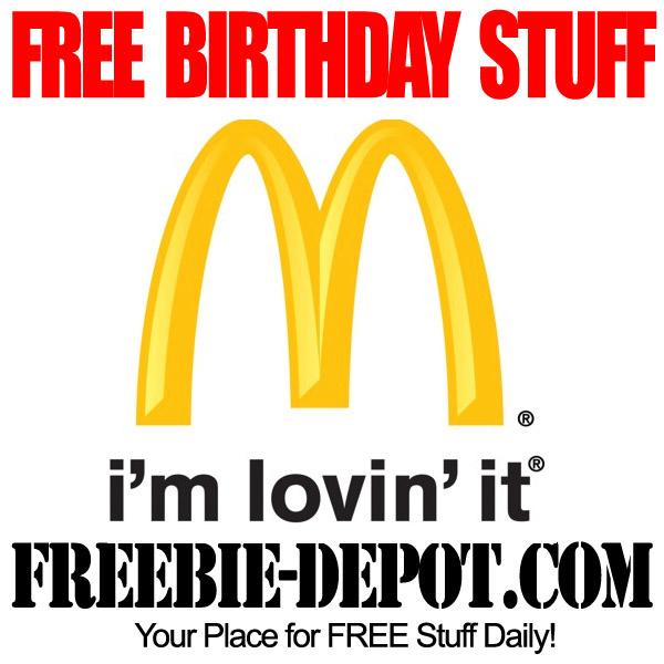 Free Birthday McDonalds Happy Meal