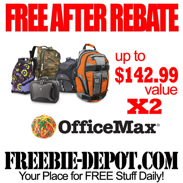 Free After Rebate Backpacks