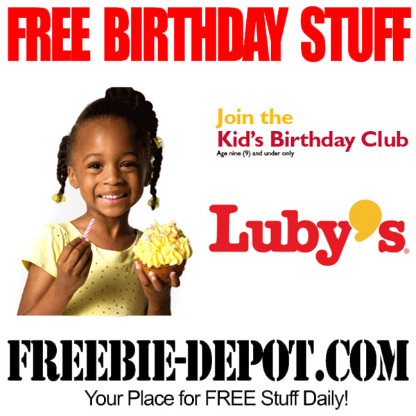 Free Birthday Kid Meal at Luby's