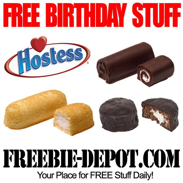 Free Birthday Stuff Hostess Snack