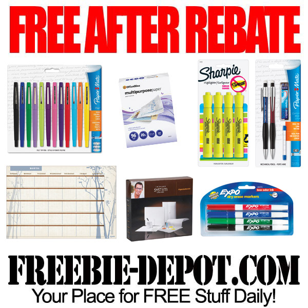 Free After Rebate Back to School Supplies