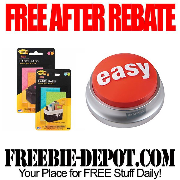 Free After Rebate Post it Labels