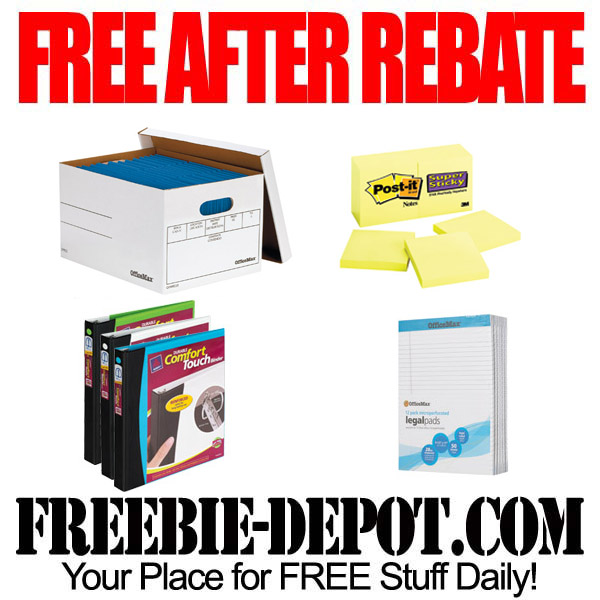 Free After Rebate Office Supply Essentials