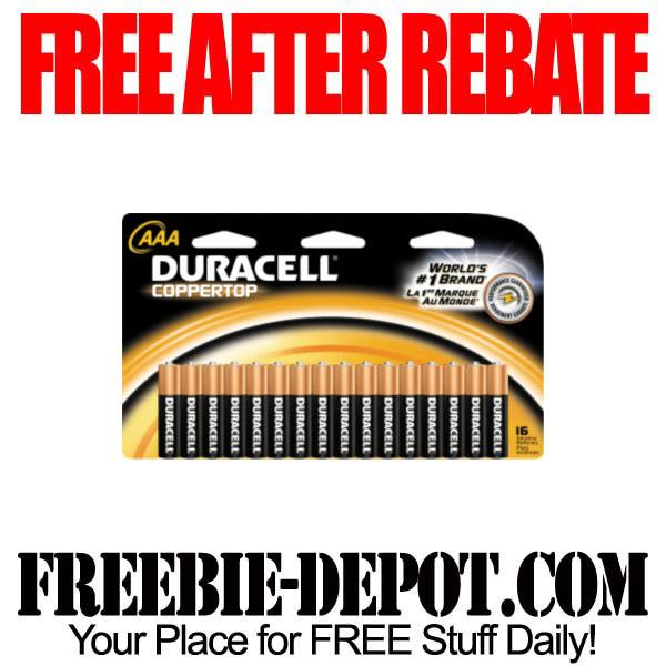 Free After Rebate Batteries AAA