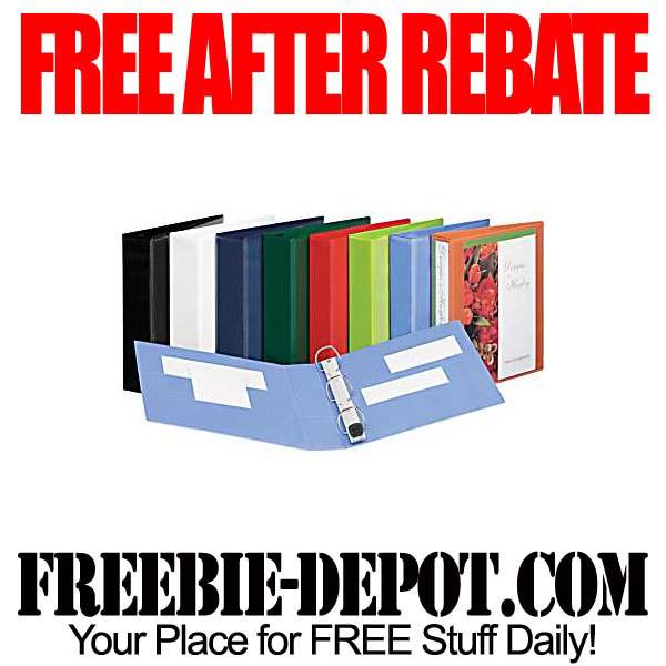 Free After Rebate 3-Ring Binders