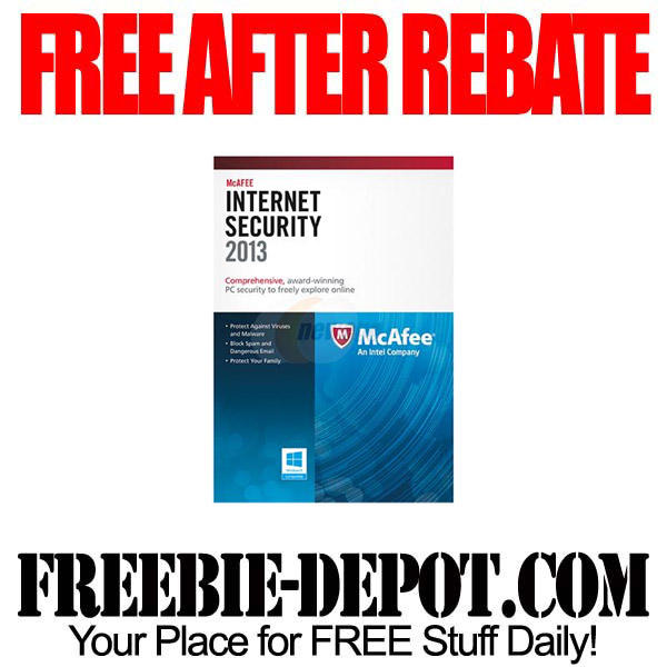 Free After Rebate McAfee Internet Security