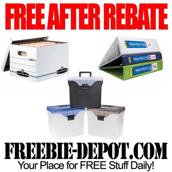 Free After Rebate Boxes & Binders