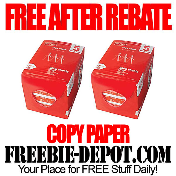 Free After Rebate Copy Paper Staples