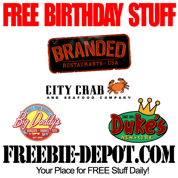 FREE Birthday Meal at Branded Restaurants