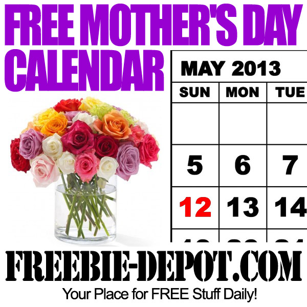Free Mother's Day Calendar 2013