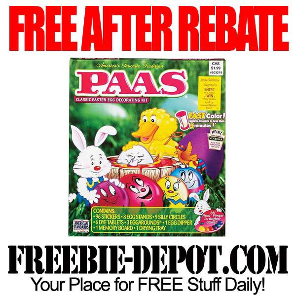 Free After Rebate Easter Egg Color