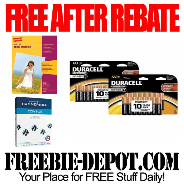 Free After Rebate Paper and Batteries