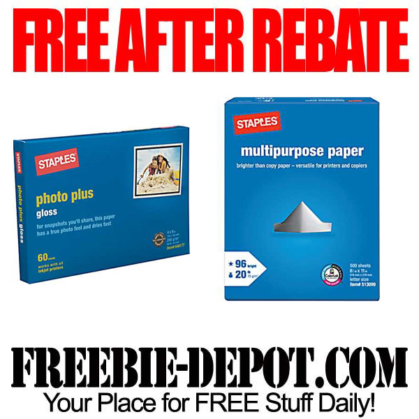 Free After Rebate Paper Staples