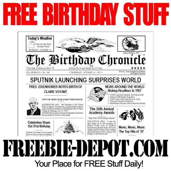 Free Birthday Chronicle