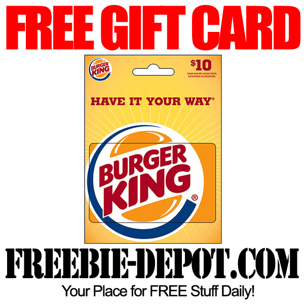 Free Burger King Gift Card