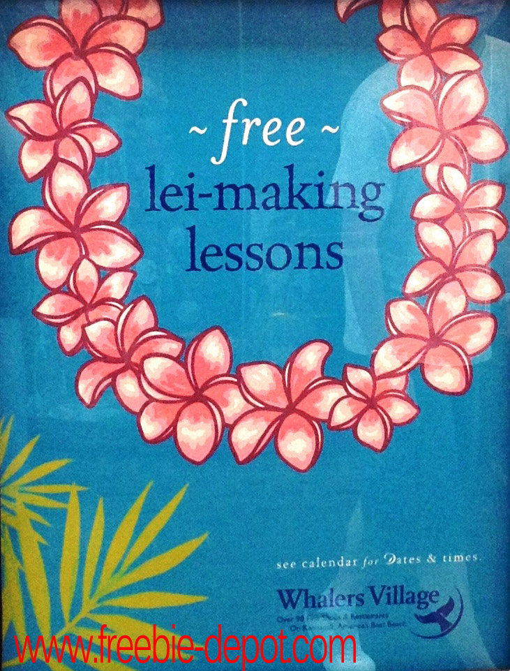 Free Maui Lei Making