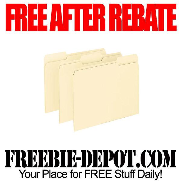 Free After Rebate File Folders