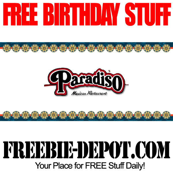 Free Birthday Meal at Paradiso
