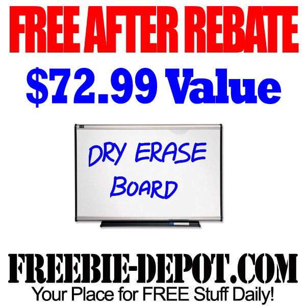 Free After Rebate Dry Erase Board