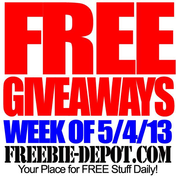 FREE Giveaways – Week of 5/4/13