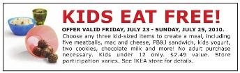 FREE Kids Meal @ IKEA