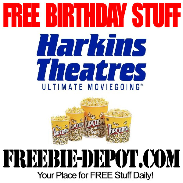 Free Birthday Movie Popcorn