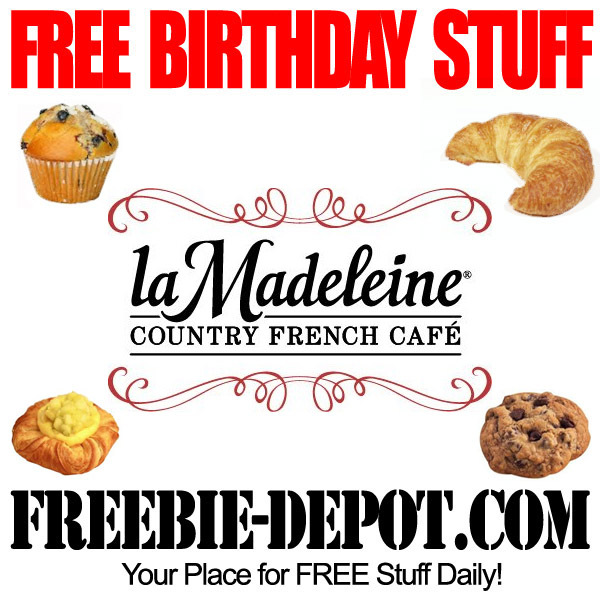 Free Birthday Pastry or Sweet
