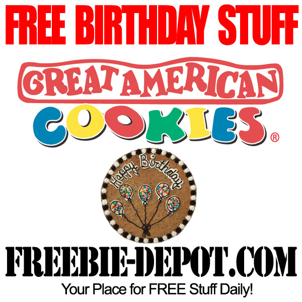 Free Birthday American Cookie