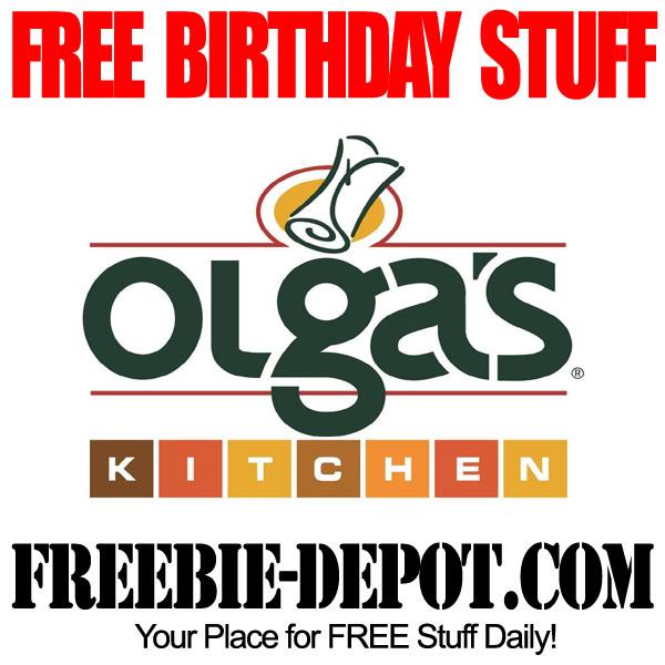 Olga Kitchen: FREE BIRTHDAY STUFF – Olga's Kitchen