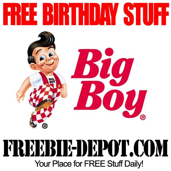 Free Birthday Big Boy