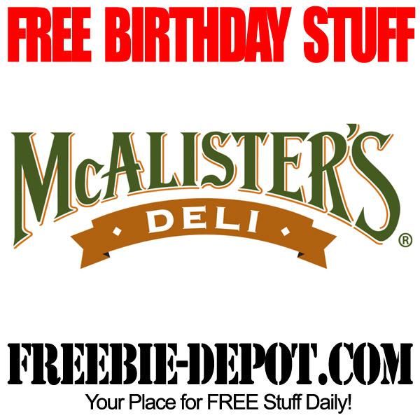 FREE BIRTHDAY STUFF – McAlister's Deli – Birthday Freebie Gift ...