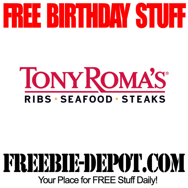 Free Birthday Tony Romas