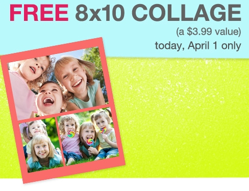 FREE Photo Collage @ Walgreens – TODAY ONLY!