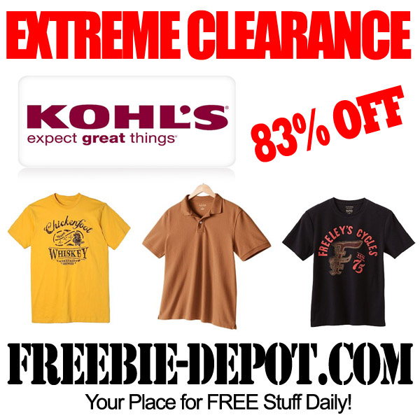 EXTREME CLEARANCE – Men's Shirts 83% OFF at Kohl's