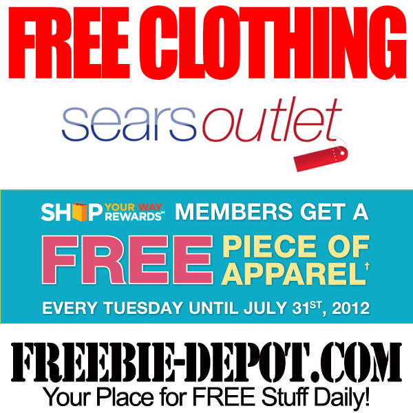 to live near a Sears Outlet store you can get some FREE clothing