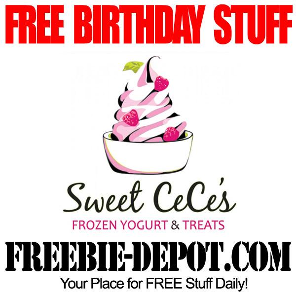 FREE BIRTHDAY STUFF – Sweet CeCe's Frozen Yogurt