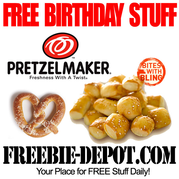 Free Birthday Stuff Pretzel Bites