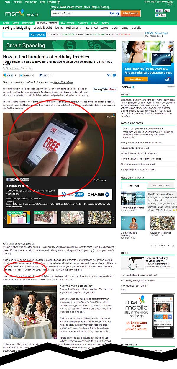 Freebie Depot Featured on MSN Money
