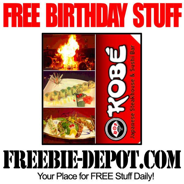 FREE BIRTHDAY STUFF – Kobe Japanese Steakhouse – Birthday Freebie Meal and Cupcake in Florida