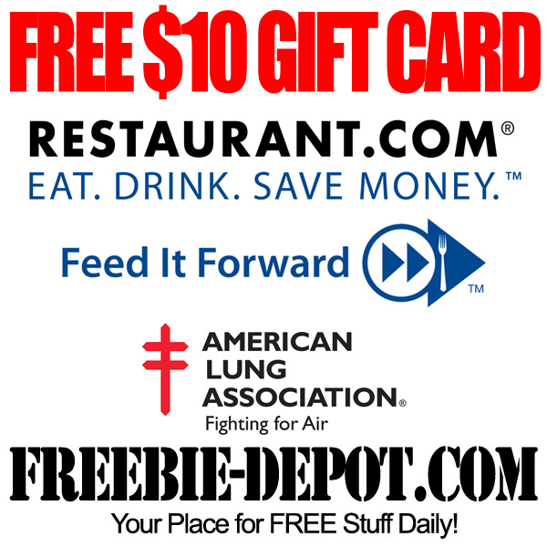 FREE $10 Restaurant Gift Cards