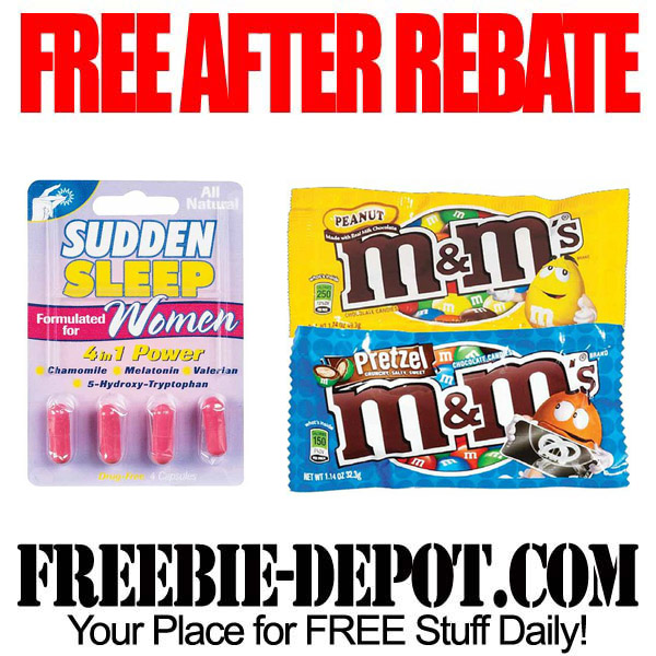 FREE AFTER REBATE – Sleep Aid & Candy
