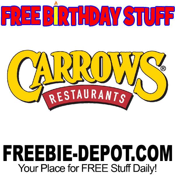 BIRTHDAY FREEBIE – Carrows Restaurant