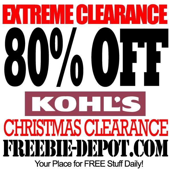 Kohl's Christmas Clearance Sale