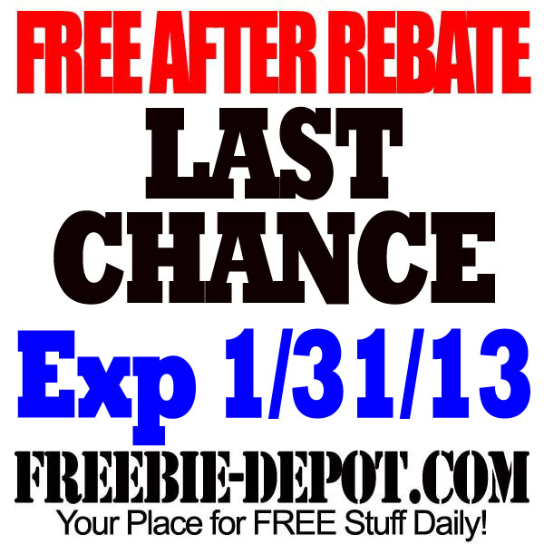 FREE AFTER REBATE – Last Chance – exp 1/31/13