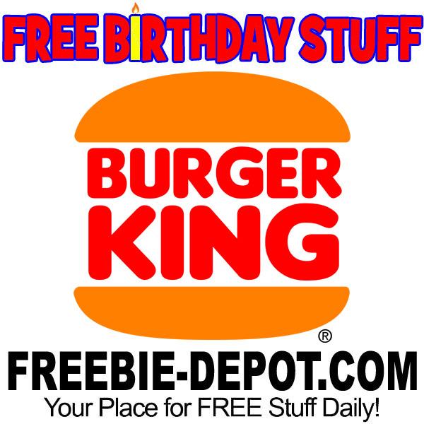 BIRTHDAY FREEBIE – Burger King