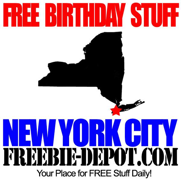FREE BIRTHDAY STUFF in New York City