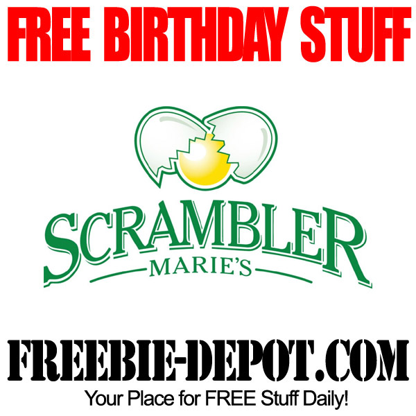 Free Birthday Food at Scrambler Maries