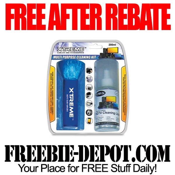 FREE AFTER REBATE – HDTV Deluxe Cleaning Kit