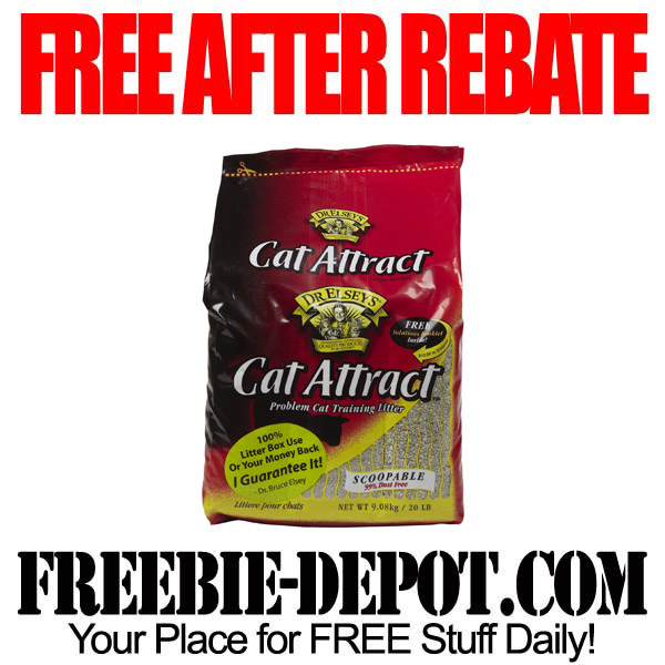 FREE AFTER REBATE – Cat Litter – FREE Full Size Bag of Kitty Litter from Dr. Elsey's